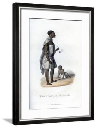 Woman and Child of the Bushman Race, 1848--Framed Giclee Print