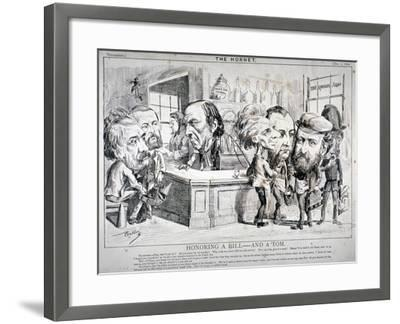 Honouring a Bill - and a Tom, 1869-F Poublon-Framed Giclee Print