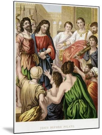 Jesus before Pilate, Mid 19th Century--Mounted Giclee Print