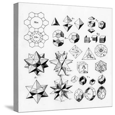 Regular Geometrical Solids of Various Types, 1619--Stretched Canvas Print