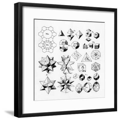 Regular Geometrical Solids of Various Types, 1619--Framed Giclee Print