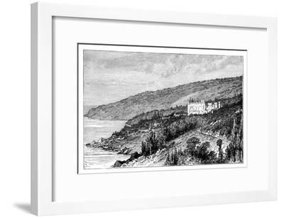 View in the Crimea: the Palace Woronzow, Alupka, Ukraine, C1888--Framed Giclee Print