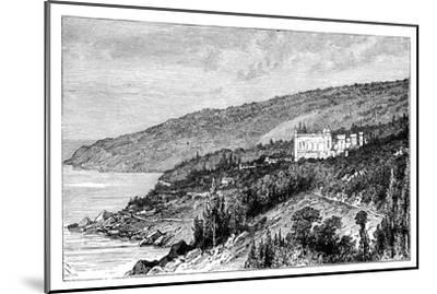 View in the Crimea: the Palace Woronzow, Alupka, Ukraine, C1888--Mounted Giclee Print