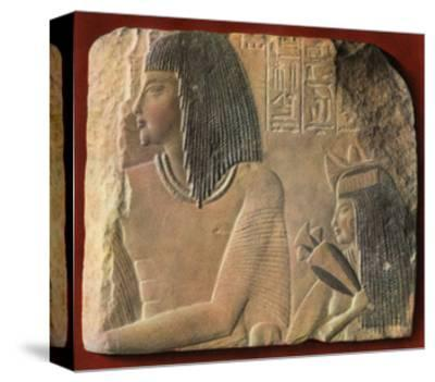 An Egyptian Limestone Relief, C1400 BC--Stretched Canvas Print