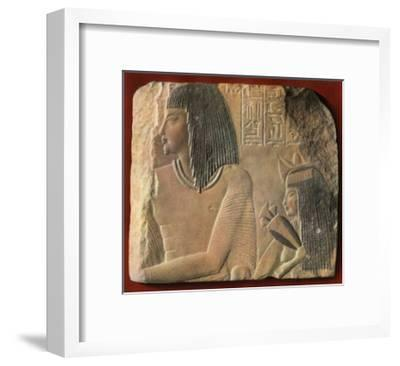 An Egyptian Limestone Relief, C1400 BC--Framed Giclee Print