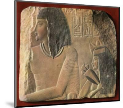 An Egyptian Limestone Relief, C1400 BC--Mounted Giclee Print