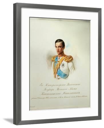 Portrait of Grand Duke Konstantin Nikolaevich of Russia, 1846-1849--Framed Giclee Print