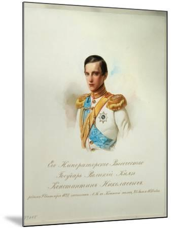Portrait of Grand Duke Konstantin Nikolaevich of Russia, 1846-1849--Mounted Giclee Print