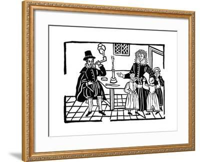 Man Smoking a Pipe, Early 17th Century--Framed Giclee Print