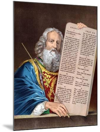 Moses with the Ten Commandments, Mid 19th Century--Mounted Giclee Print
