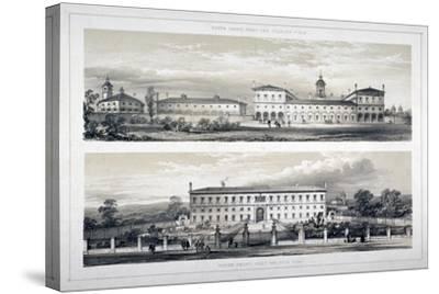 The Royal Naval School, Lewisham High Road, New Cross, Lewisham, London, C1870--Stretched Canvas Print