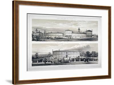 The Royal Naval School, Lewisham High Road, New Cross, Lewisham, London, C1870--Framed Giclee Print