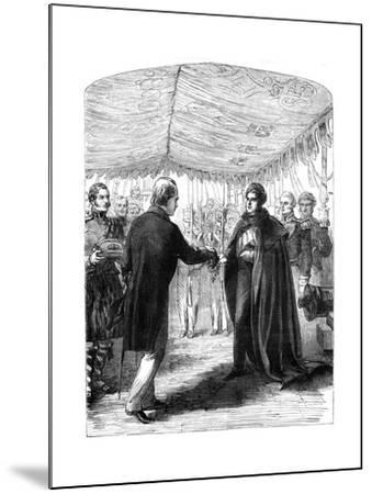 Sir Walter Scott Presenting the Cross of St Andrew to King George IV, 1822--Mounted Giclee Print
