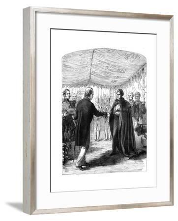 Sir Walter Scott Presenting the Cross of St Andrew to King George IV, 1822--Framed Giclee Print