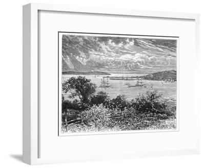 Falmouth Harbour, Cornwall, England, 1900--Framed Giclee Print