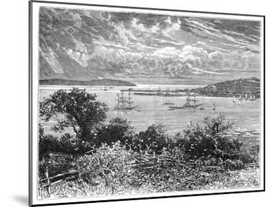 Falmouth Harbour, Cornwall, England, 1900--Mounted Giclee Print