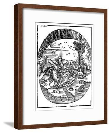 God Creating Eve from Adam's Rib, 1508--Framed Giclee Print