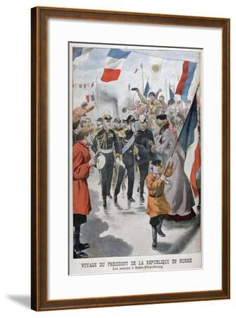 The President of the Republic of France Visiting St Petersburg, Russia, 1902--Framed Giclee Print