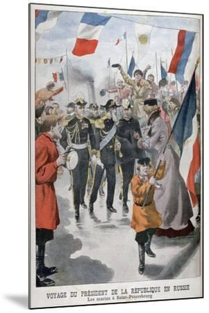 The President of the Republic of France Visiting St Petersburg, Russia, 1902--Mounted Giclee Print