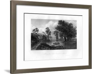 Albany from Van-Unsselaens Island, New York State, 1855--Framed Giclee Print