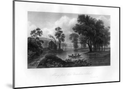 Albany from Van-Unsselaens Island, New York State, 1855--Mounted Giclee Print