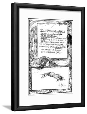 Freeze, Freeze, Thou Bitter Sky, 1895-Giraldo Eduardo Lobo de Moura-Framed Giclee Print