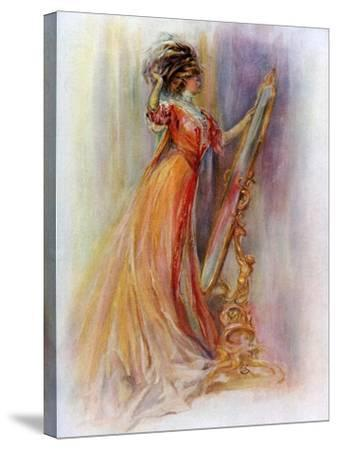 Woman Admiring Herself in a Mirror, 1908-1909- Hubner & Wilson-Stretched Canvas Print