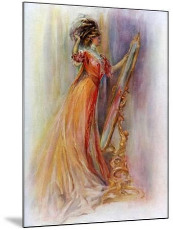 Woman Admiring Herself in a Mirror, 1908-1909- Hubner & Wilson-Mounted Giclee Print