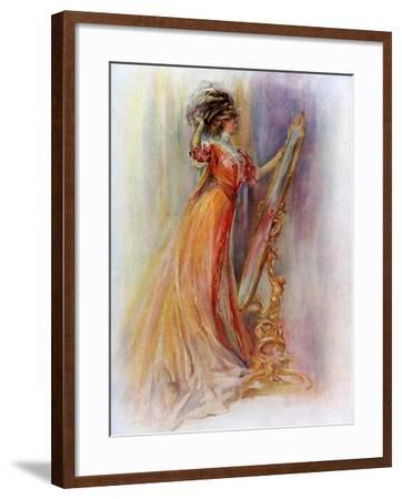 Woman Admiring Herself in a Mirror, 1908-1909- Hubner & Wilson-Framed Giclee Print