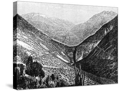 Ascent of the Cumbre, Chile, 1895--Stretched Canvas Print