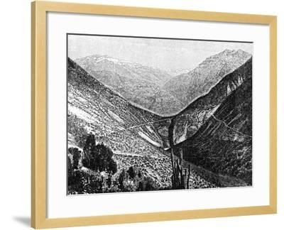 Ascent of the Cumbre, Chile, 1895--Framed Giclee Print