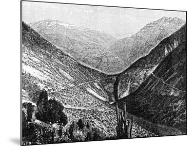 Ascent of the Cumbre, Chile, 1895--Mounted Giclee Print