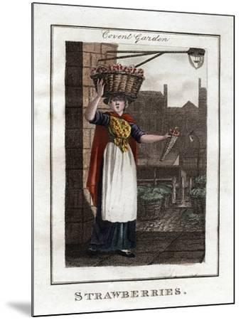 Strawberries, Covent Garden, London, 1805--Mounted Giclee Print