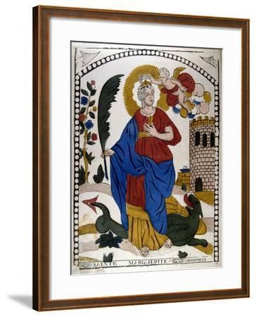 St Margaret or Marina of Antioch, Early 4th Century Virgin Christian Martyr, 19th Century--Framed Giclee Print