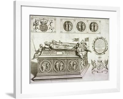 The Tomb of Henry VII and Queen Elizabeth in the King's Chapel in Westminster Abbey, London, C1750--Framed Giclee Print