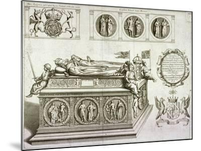 The Tomb of Henry VII and Queen Elizabeth in the King's Chapel in Westminster Abbey, London, C1750--Mounted Giclee Print