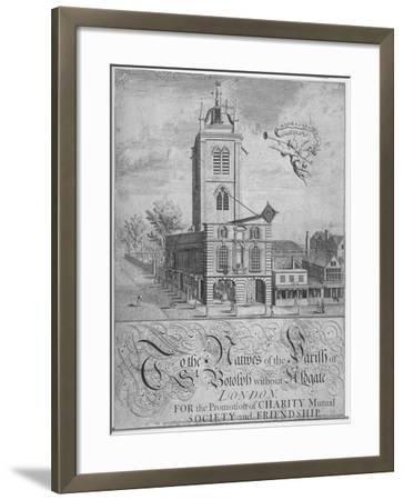 Church of St Botolph, Aldgate, City of London, 1750--Framed Giclee Print