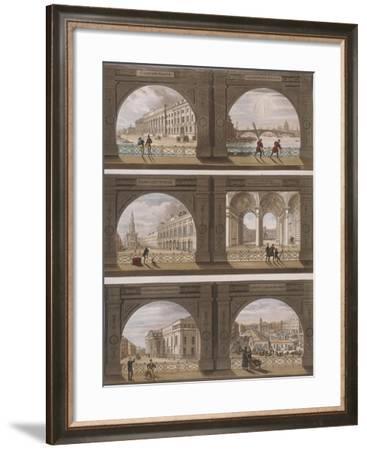 Six Views of London Sites Seen Through an Arch, C1820--Framed Giclee Print