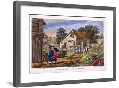 View of a Farmyard in Hendon, in the London Borough of Barnet, C1795--Framed Giclee Print