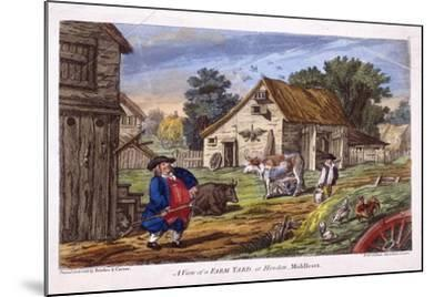 View of a Farmyard in Hendon, in the London Borough of Barnet, C1795--Mounted Giclee Print