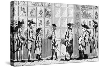The Macaroni Print Shop, 1772--Stretched Canvas Print