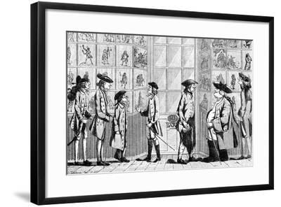 The Macaroni Print Shop, 1772--Framed Giclee Print