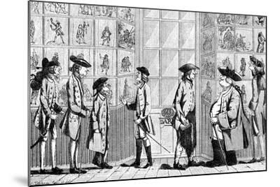 The Macaroni Print Shop, 1772--Mounted Giclee Print