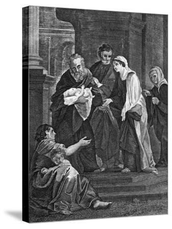 Simeon's Benediction, 1814--Stretched Canvas Print