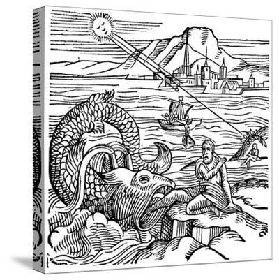 Jonah Being Spewed Up by the Whale, 1557--Stretched Canvas Print