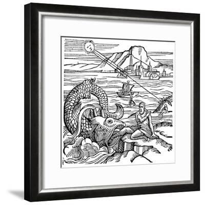 Jonah Being Spewed Up by the Whale, 1557--Framed Giclee Print