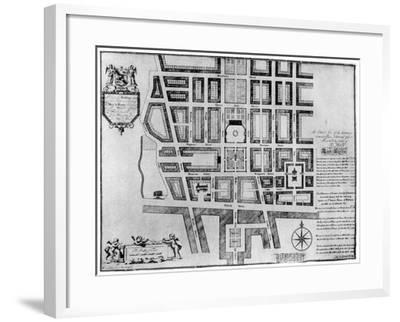 Plan of Lord Harley's Estate, London, 1907--Framed Giclee Print