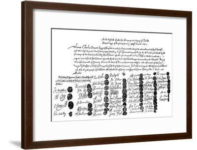 Warrant for the Execution of King Charles, 1648--Framed Giclee Print