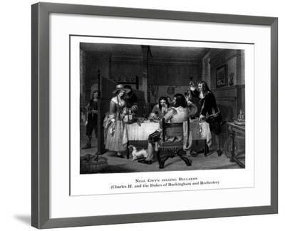 Nell Gwyn Selling Ballards--Framed Giclee Print