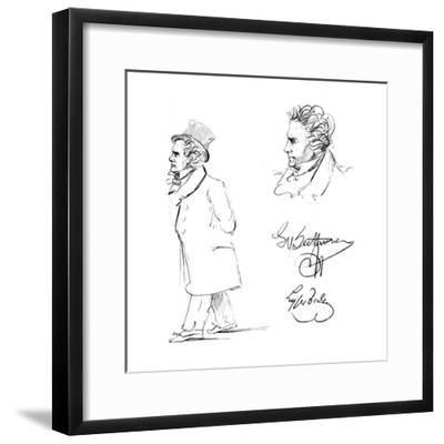 Ludwig Van Beethoven (1770-182), German Composer--Framed Giclee Print